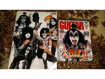 KISS Guitar world tidning med reportage
