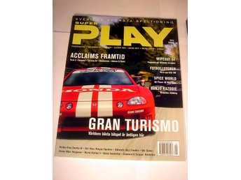SUPER PLAY   HELT NY  MAJ 1998  GRAN TURISMO mm. !!
