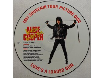"ALICE COOPER 'Love's A Loaded Gun' UK 12"" picture-disc"