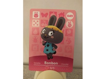 Animal Crossing Amiibo Welcome Amiibo card nr 049 Bonbon