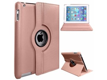 iPad Mini 1 2 & 3 - 360 Rotation Stand Case Cover/iPad 360 Fodral - Rose Gold