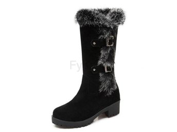Dam Boots For Cold Winter Botas Women Footwears Black 40