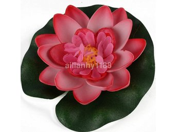 1st Floating Artificial Lotus Ornament för Aquarium Fish Tank Pond AU