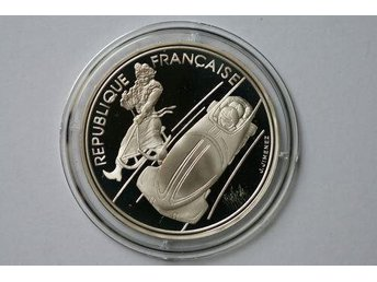 France 100 francs, 1990 Bobsledding
