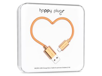 BUTIK - HAPPY PLUGS MICRO-USB TO USB CABLE (2 M) ROSE