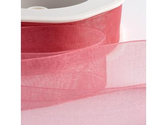1 rulle ca 50m organzaband organza dekoration band - 10mm WATERMELON