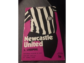 FOTBOLL Matchprogram Newcastle United FC v Liverpool FC 21/8 1971