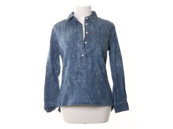 Levi Strauss & Co, Blus, 1 Pocket Popover Choppy Abrasion, Strl: S, Blå