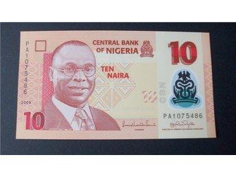 (19) NIGERIA 10 NAIRA 2009 UNC PLAST SEDEL - Luleå - (19) NIGERIA 10 NAIRA 2009 UNC PLAST SEDEL - Luleå
