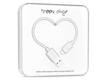 BUTIK - HAPPY PLUGS MICRO-USB TO USB CABLE (2 M) WHITE