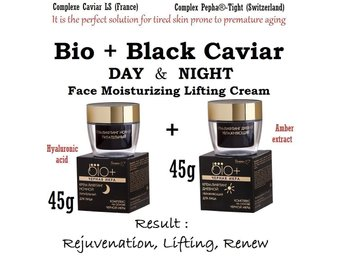 DAY & NIGHT Bio+Black Caviar Face cream Anti Aging care Natura Siberica L'ambre