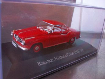 Borgward Isabella coupe 1957-58, röd 1:43, MINT!