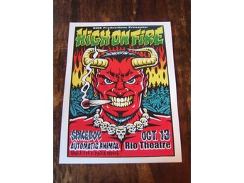 Poster / High On Fire, Rio Theatre Oct 13 (30 x 40 cm)