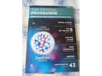 Eurovision song contest 2016 officiell programbok.