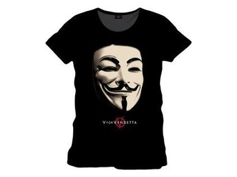 V for Vendetta T-Shirt Anonymous  L