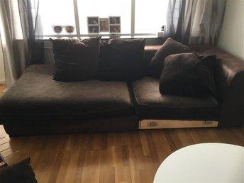 Divan soffa i mörkbrun/brun - Nacka - Divan soffa i mörkbrun/brun - Nacka