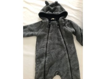 Fodrad overall i fleece 74/80