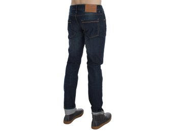 ACHT - Blue Wash Cotton Stretch Slim Skinny Fit Jeans