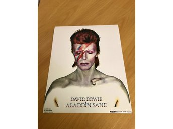 DAVID BOWIE ALADDIN SANE UK 1973 GLOSSY PHOTO POSTER