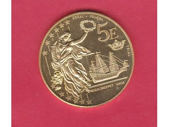 SVERIGE / SWEDEN  mynt 5 Euro Prototyp / trial coin