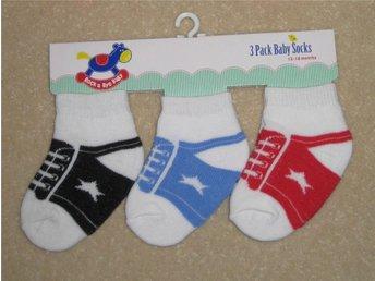 """Baby Trainer Shoe Socks STRUMPOR """"Rocka a Bye Baby"""" 0-6 mån - Bålsta - Baby Trainer Shoe Socks STRUMPOR """"Rocka a Bye Baby"""" 0-6 mån - Bålsta"""