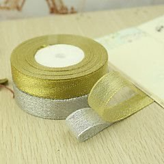 1 rulle (23 meter) - 10mm  Glitterband glitter band dekoration - SILVER