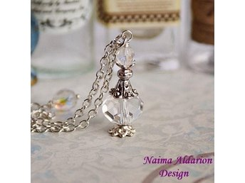 handgjort halsband Harry Potter trolldryck flaska potion veritaserum elix silver
