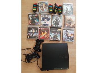 Playstation 3 med 10 spel