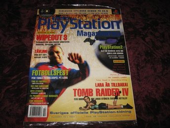 PLAYSTATION MAG NR 10 1999 MED DEMO CD (WIPEOUT 3) NY INPLASTAD