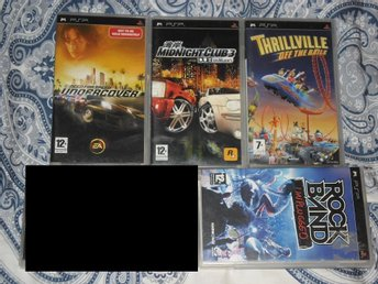 PSP-spelpaket: Racing, Rock Band, Need for Speed