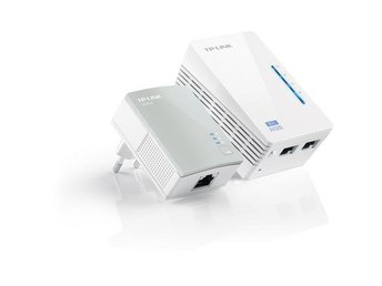 TP-LINK AV 500 WiFi Powerline Extender Starter Kit, 500Mbps, WLAN, vit