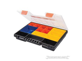 Silverline Compartment Organiser for storage small parts 13 Compartment
