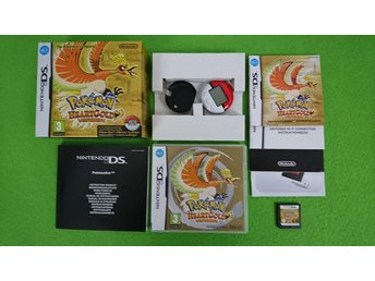Pokemon HeartGold SVENSK UTGÅVA BIG BOX MED Poke Walker Nintendo DS Heart Gold