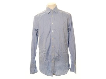 Charles Tyrwhitt, Buttondown-skjorta, Strl: 43, Non Iron Slim Fit, Blå/Vit