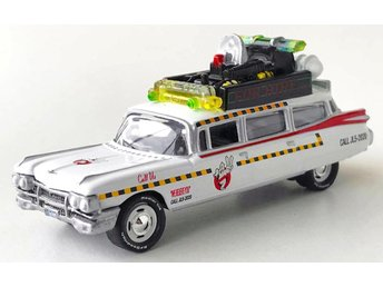1959 Cadillac ECTO-1A Ghostbusters 1/64 Johnny Lightning vit