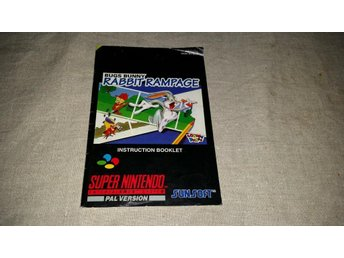 SNES - SUPER NINTENDO - BUGS BUNNY RABBIT RAMPAGE - SCN - MANUAL