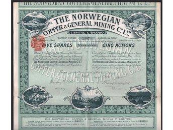 1912 The Norwegian Copper & General Mining Co. Ltd. - Oakville, Ontario, Canada - 1912 The Norwegian Copper & General Mining Co. Ltd. - Oakville, Ontario, Canada