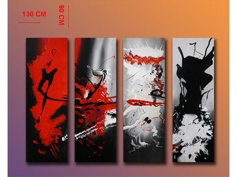 Abstrakt, oljemålning 130x90 cm - Tollarp - Abstrakt, oljemålning 130x90 cm - Tollarp