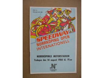 Program Internationell Speedway Norrköping open 14/8 1984