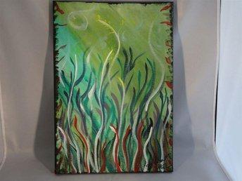 Akryl på canvas. Vajande sjögräs. - Bro - Akryl på canvas. Vajande sjögräs. - Bro