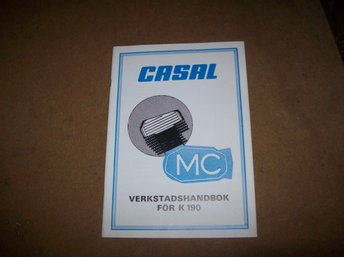 CASAL K 190 reperationskatalog