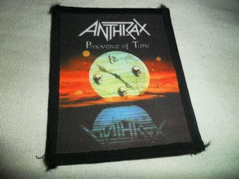 Anthrax thrash metal tygmärke patch