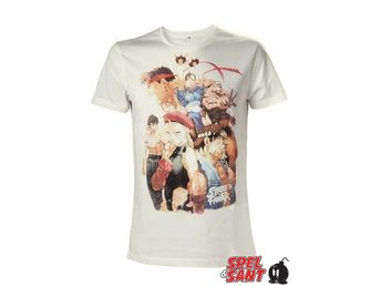Street Fighter Karaktärer T-Shirt Vit (Small)