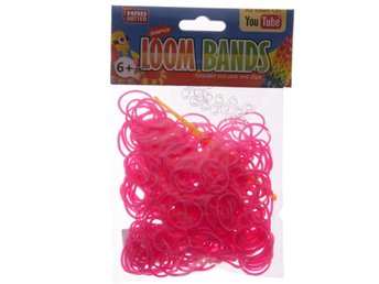 Loom bands  ca 300 st,  cerise