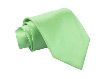 Lime grön satin slips _ Regular