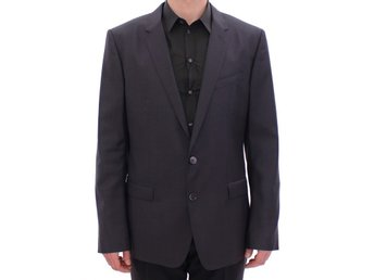 Dolce & Gabbana - Gray slim fit MARTINI wool blazer