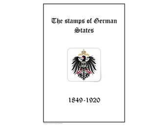 Germany German States 1849-1920 PDF STAMP ALBUM INGA FRIMÄRKEN!!