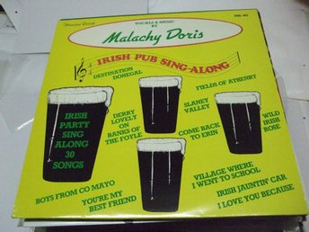 MALACHY DORIS Irish pub singa-along  30songs Homespun rec