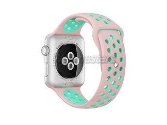 Apple Watch 38mm M/L silikon Sport klockarmband / Rosa turkos - Hong Kong - Apple Watch 38mm M/L silikon Sport klockarmband / Rosa turkos - Hong Kong