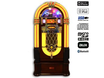 Jukebox Retro 125cm - Ny version BT (CD/USB/Aux)